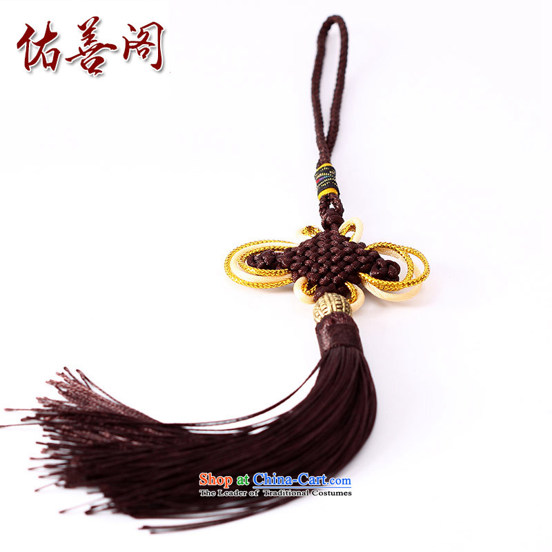 Woo Shin Ascott International China characteristics well field macrame Phillips head high and contemptuous of knot hanging multi-color flow su tassels DIY braided accessories dark brown
