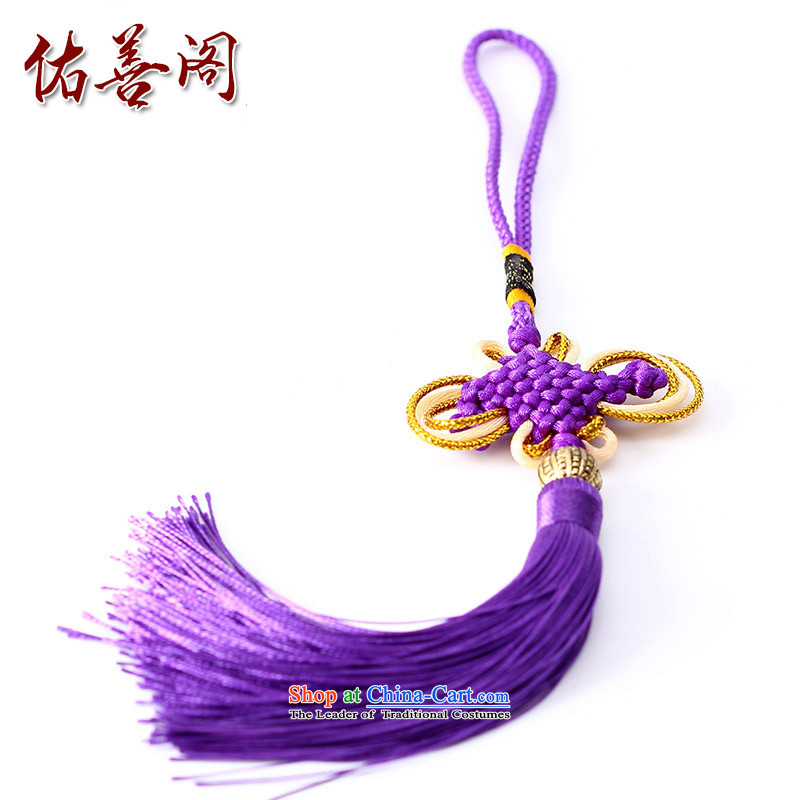 Woo Shin Ascott International China characteristics well field macrame Phillips head high and contemptuous of knot hanging multi-color flow su tassels DIY braided accessories Purple