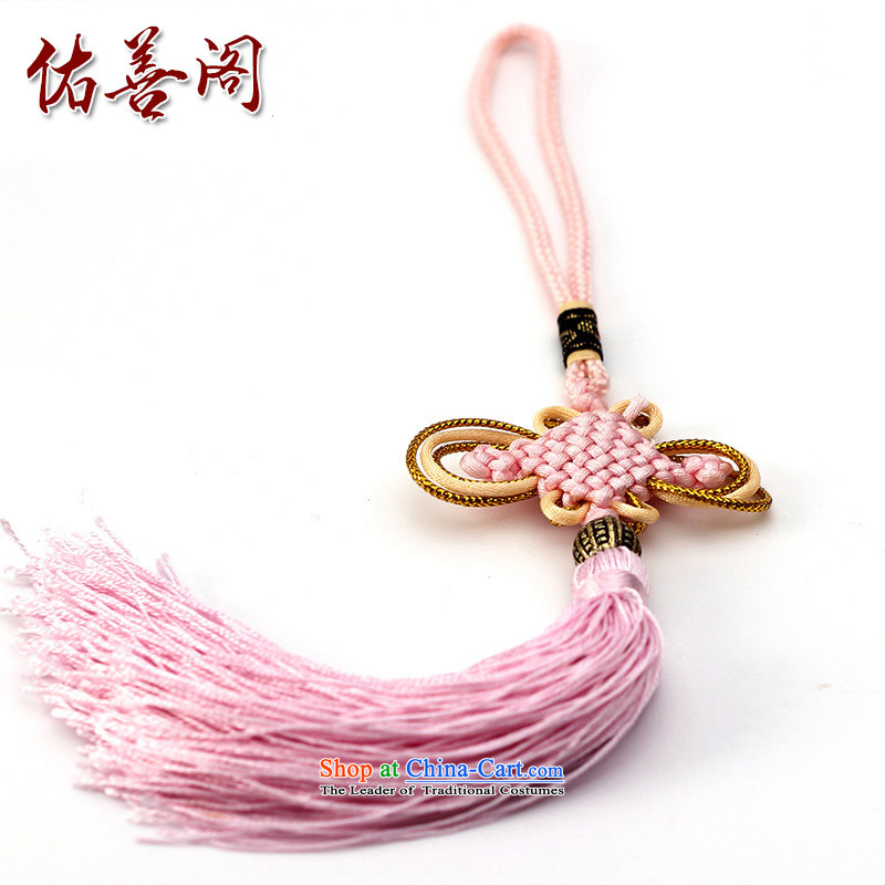 Woo Shin Ascott International China characteristics well field macrame Phillips head high and contemptuous of knot hanging multi-color flow su tassels DIY braided accessories Pink