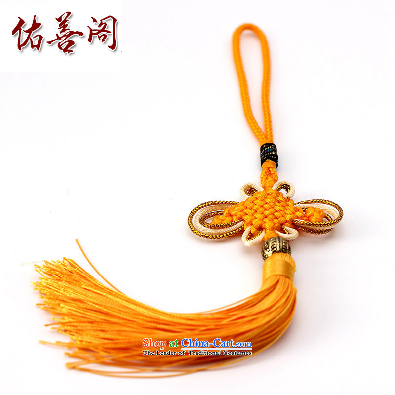 Woo Shin Ascott International China characteristics well field macrame Phillips head high and contemptuous of knot hanging multi-color flow su tassels DIY braided accessories Gold