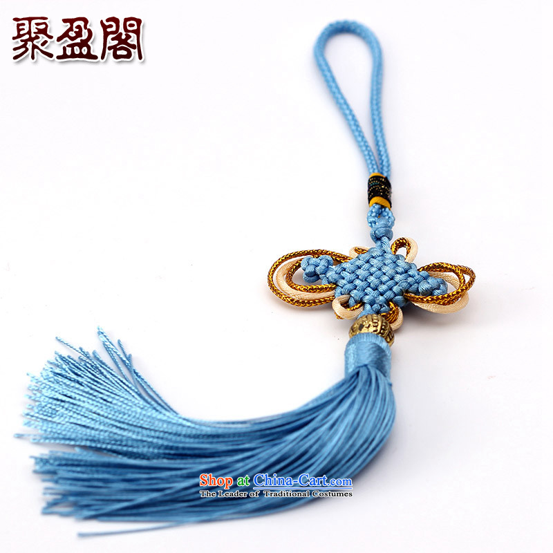 Successive gains Ascott International China well field in the design of the Phillips-head and contemptuous of hanging multi-color flow su tassels DIY addendum light blue