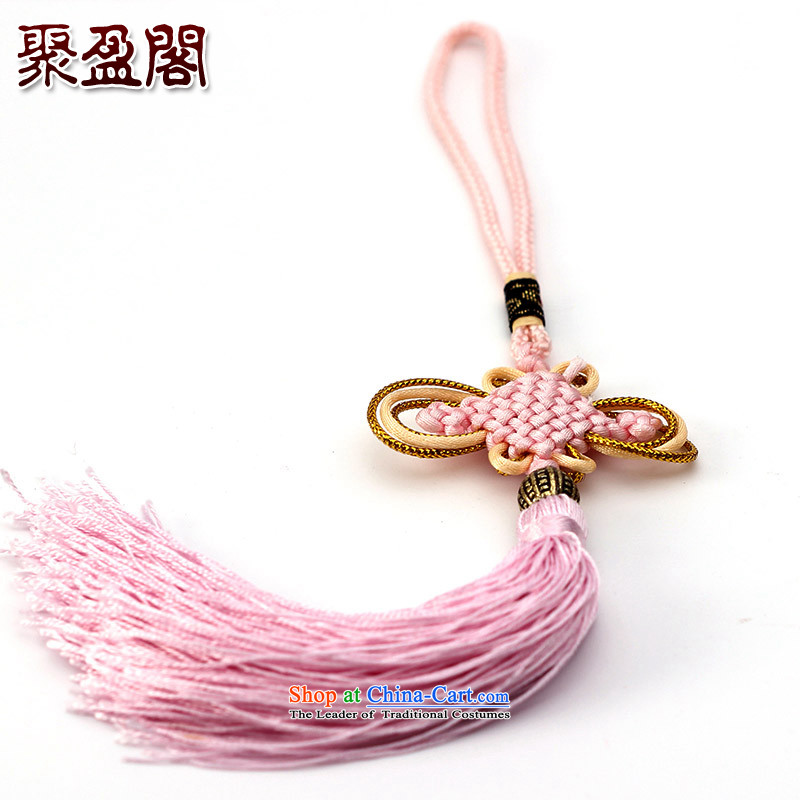 Successive gains Ascott International China well field in the design of the Phillips-head and contemptuous of hanging multi-color flow su tassels DIY Addendum Pink