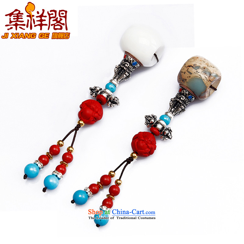 Diy accessories package with white stone mountain and the Buddha's head ���� cinnabar zodiac 108 bead hand serial parts of the Chinese zodiac please leave a message or contact the online customer service