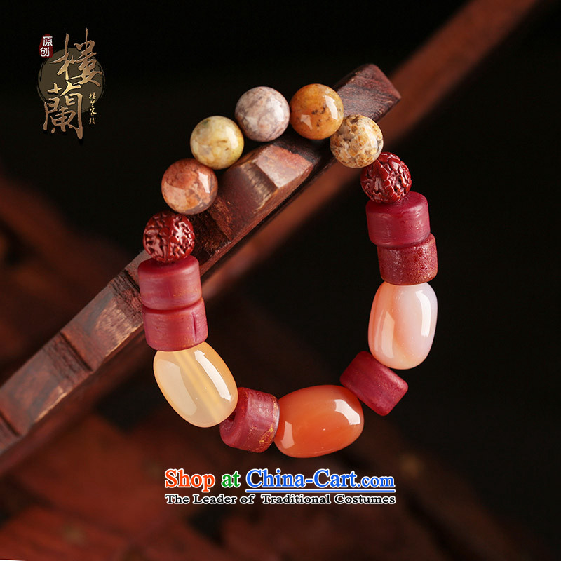 Original agate hand string Old Glass Accessories retro ethnic hand chain jewelry products China wind female wrist net size _cm_ 18 Amount posted wrist strap