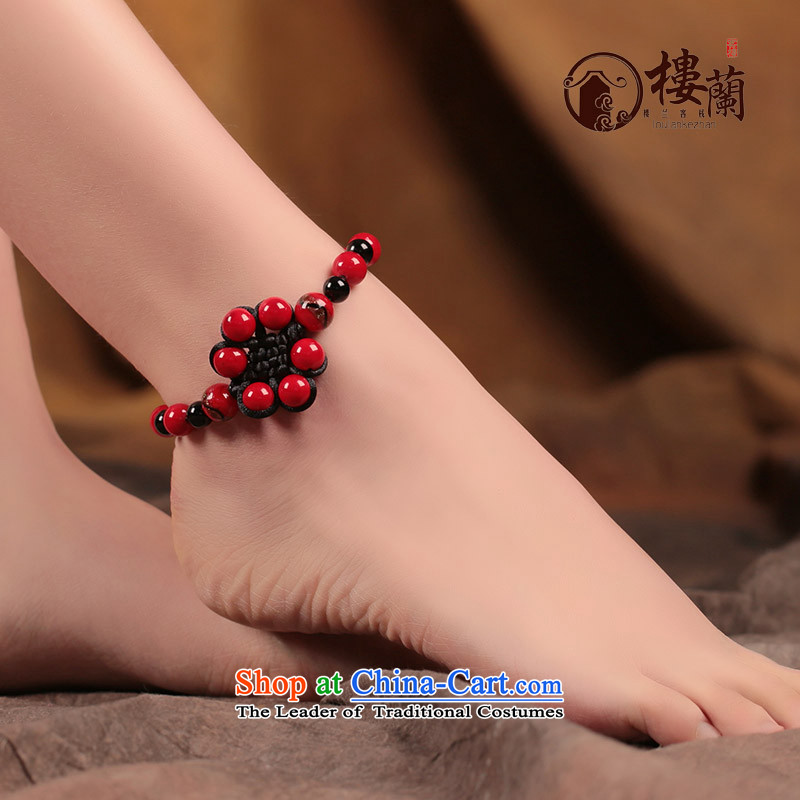 Ethnic chains retro weaving this year by the red original manually ancient style China wind ornaments female ankle net size _Posted Amount wrist _18-23 cm