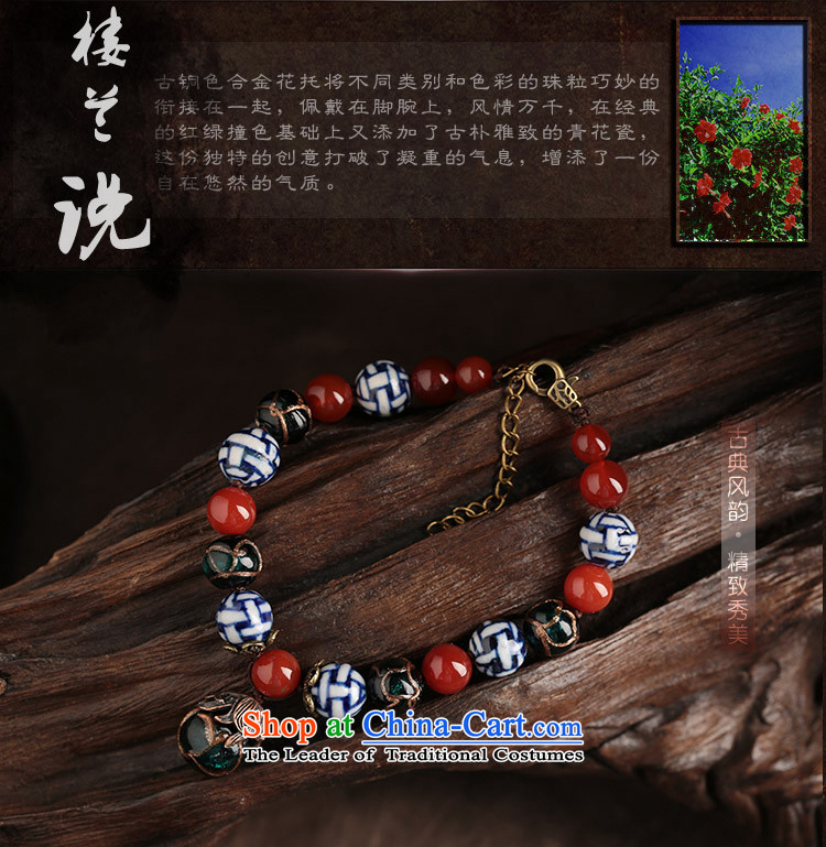 Ethnic chains female Red Agate glass porcelain antique original manually China wind jewelry ankle net size (Posted Amount )23-27 wrist cm photo, prices, brand platters! The elections are supplied in the national character of distribution, so action, buy now enjoy more preferential! As soon as possible.
