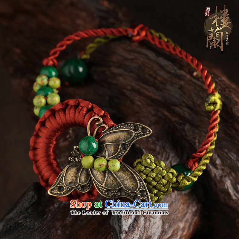 Butterfly green summer China wind ornaments Yunnan ethnic wind brought an antique nobility honey chains, possession of the United States has been pressed female shopping on the Internet