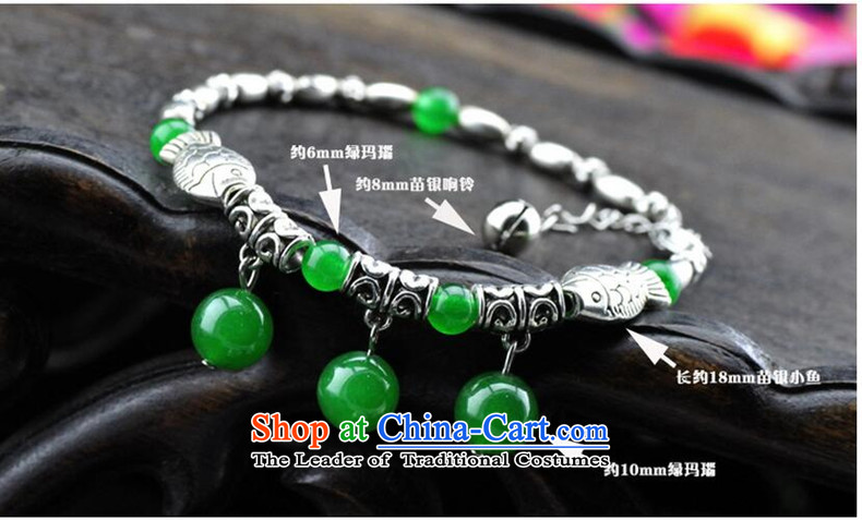 East to natural green agate Miao Silver Fish ring pin link women retro China wind ornaments picture, prices, brand platters! The elections are supplied in the national character of distribution, so action, buy now enjoy more preferential! As soon as possible.