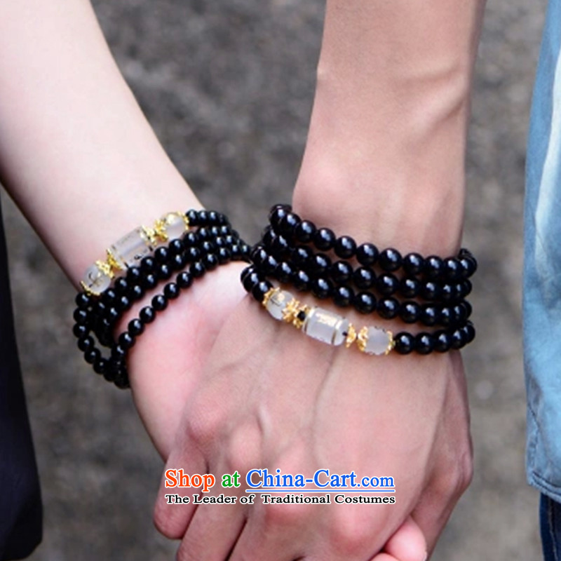 Gde black agate 108 bead bracelets on the fate of the zodiac couples hand chain multiple layers of men and women, the string of the Chinese zodiac dog + Open-license ,gde,,, shopping on the Internet
