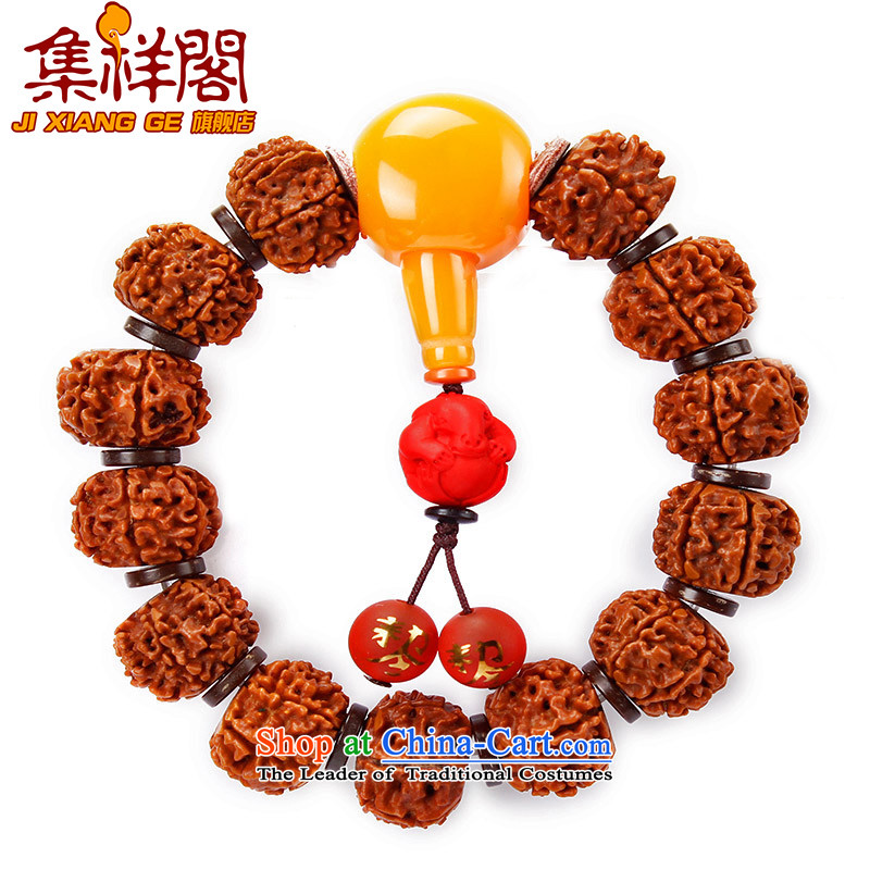 Set on 6 Ge Xiang Vajra Bodhi hands string 2016 is the year of the monkey, cinnabar snake five lines of code-Kai Tai Hand chain men of the Chinese zodiac snake_