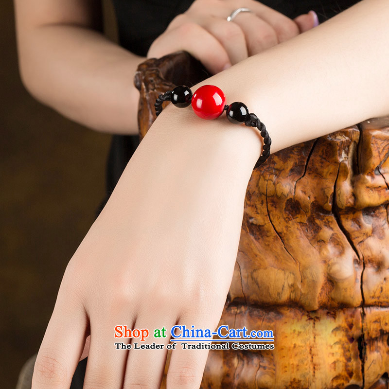 The same ethnic Heungdeok China wind agate hand chain red simple mobile strap Custom Size __ girls be sure to note the size of the posted net amount of wrist strap