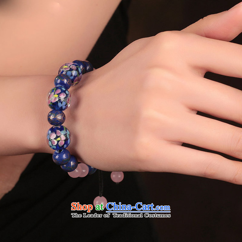 The glass-bead jewelry beaded bracelets, String retro ethnic hand chain China wind jewelry products, with girls, Heungdeok shopping on the Internet has been pressed.