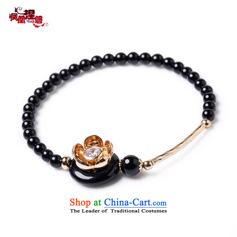 Phoenix Nirvana Hand chain female China wind personality single layer crystal hand string accessories to his girlfriend Christmas presents