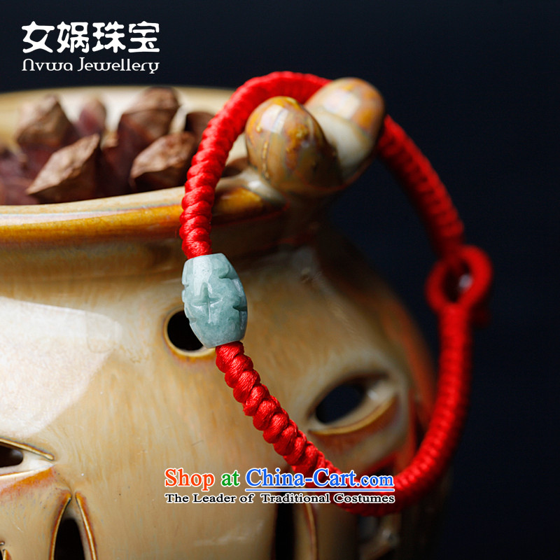 Nu Wa Jade Jewelry Passepartout, by order of the Red Hand chain China wind couples_ transshipment Pearl mobile strap pin length 18cm small transit twine beads