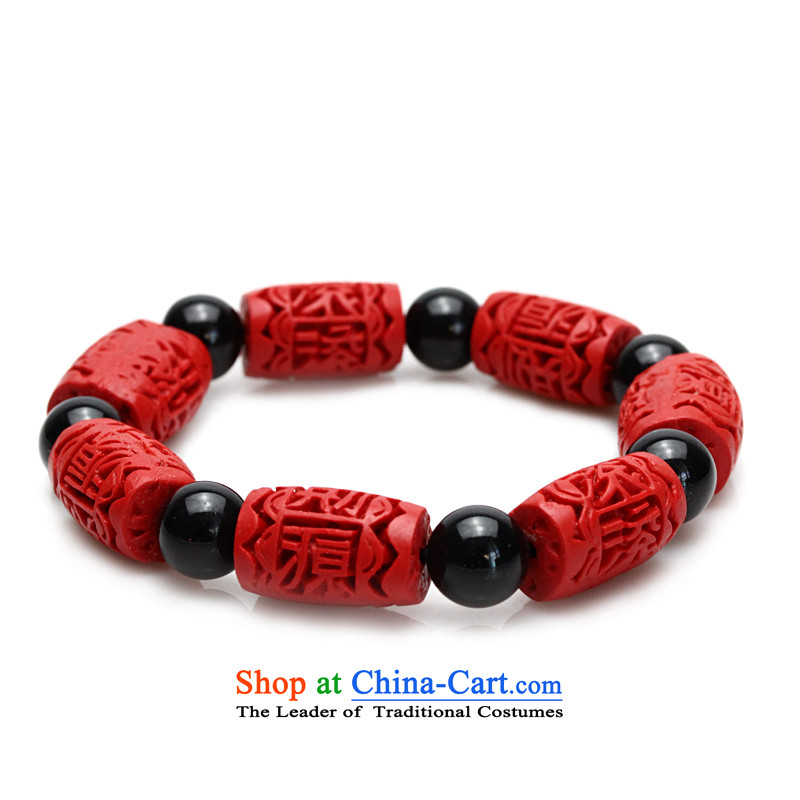 As ethnic Chinese red Selina Chow paint carved hand chain carved dark agate, verdant birthday gift Christmas holiday, New Year is available to both men and women