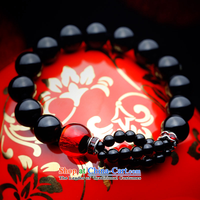 Phoenix Nirvana Hand chain stylish girl natural black agate glass beads original manually DIY China wind ornaments AA113121210W, Phoenix Nirvana , , , shopping on the Internet