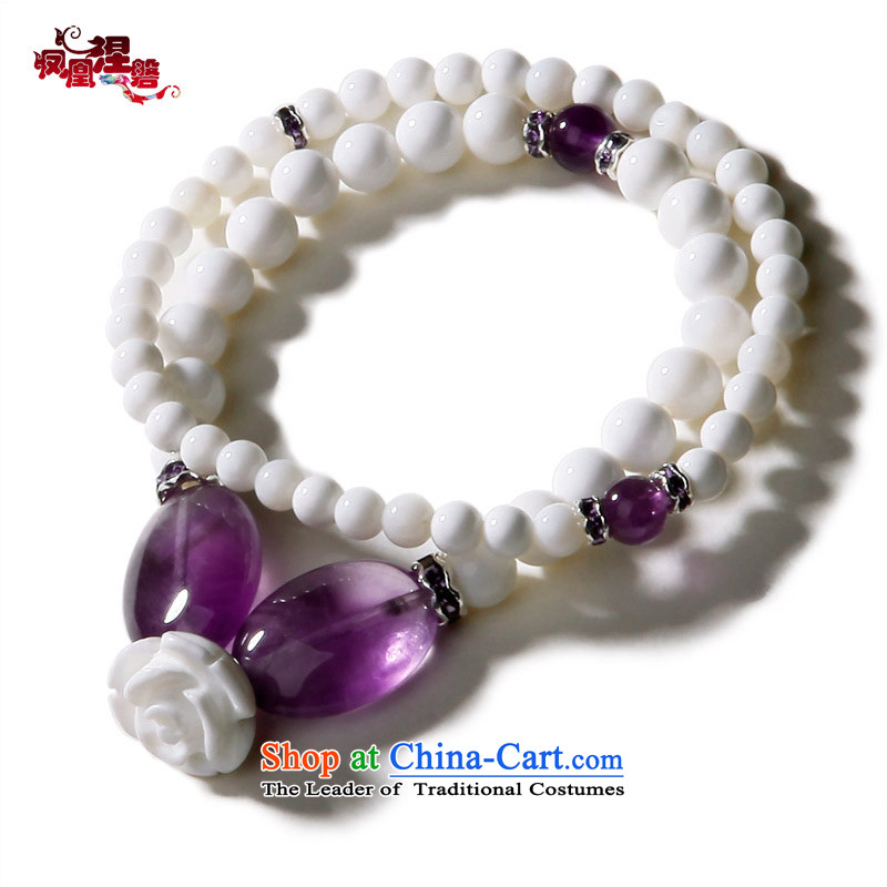 Phoenix Nirvana Hand chain multiple layers of the natural and rightful place amethyst rosesdiy China wind ornaments of snow AA112121210W