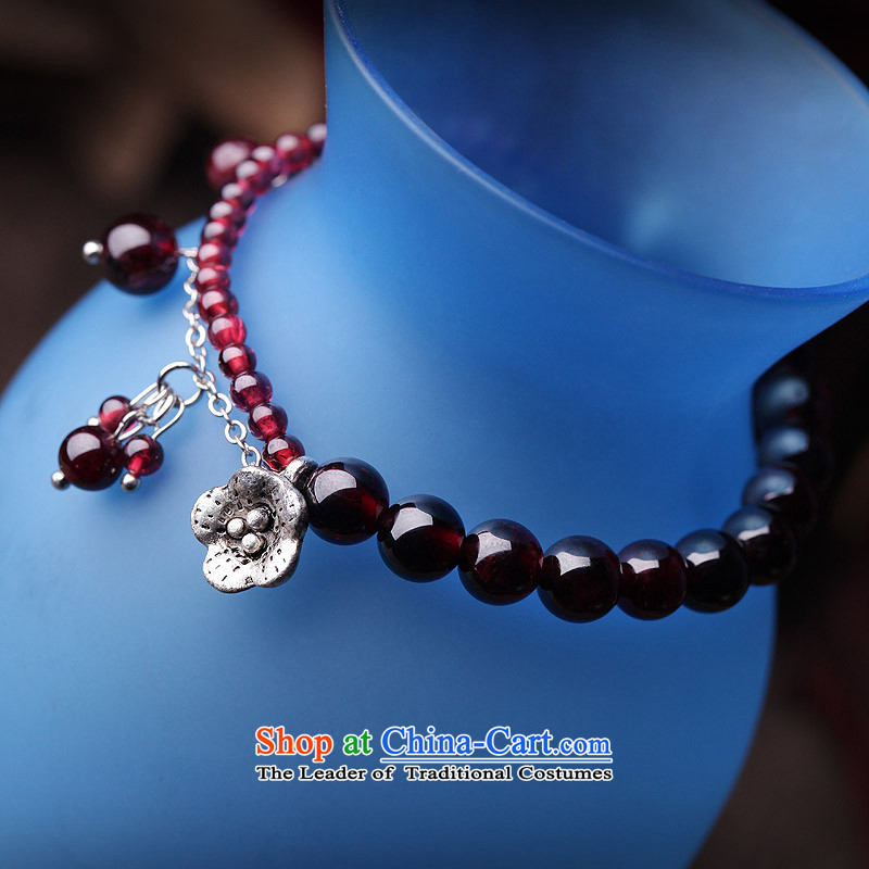 Phoenix Nirvana original innovative mobile phone link female stylish natural stone pomegranates Miao Silver China wind handcrafted accessories from Phoenix Nirvana.... AA115130110W, shopping on the Internet
