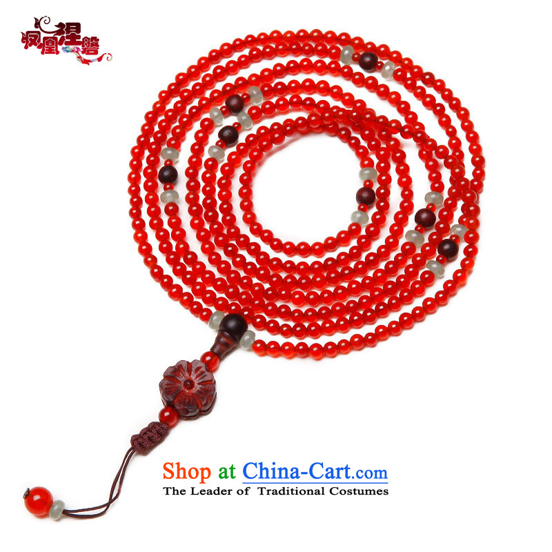 Phoenix Nirvana stylish multi-tier natural Red Agate, dongling jade bracelets women original China wind ornaments to payment on delivery