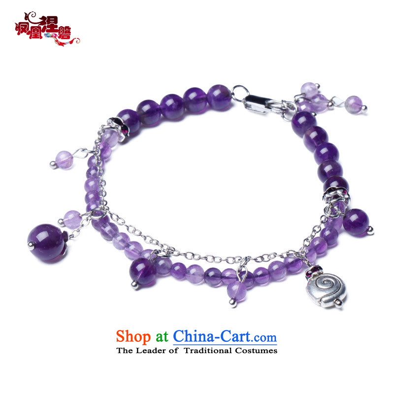 Phoenix Nirvana original innovation, chains female Sleek and versatile natural Amethyst China wind manually R22130515 Ornaments