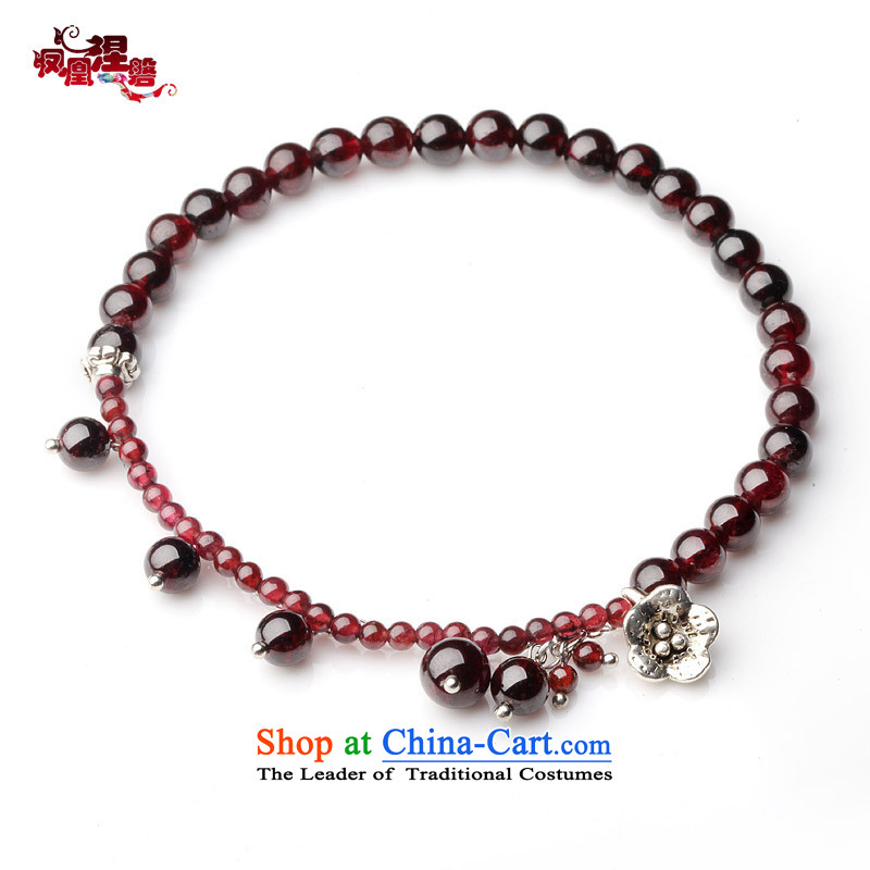 Phoenix Nirvana original innovation, natural stone chains women pomegranates stylish Miao BOC China wind manually ornaments AC010130510W