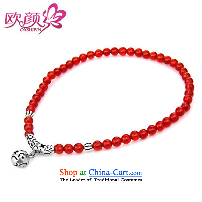 The OSCE S925 Ngan Yin Tai Silver China wind Red Agate female stylish early summer chains for Valentine's day by the GIFT girlfriend short of chains perimeter of about /20CM