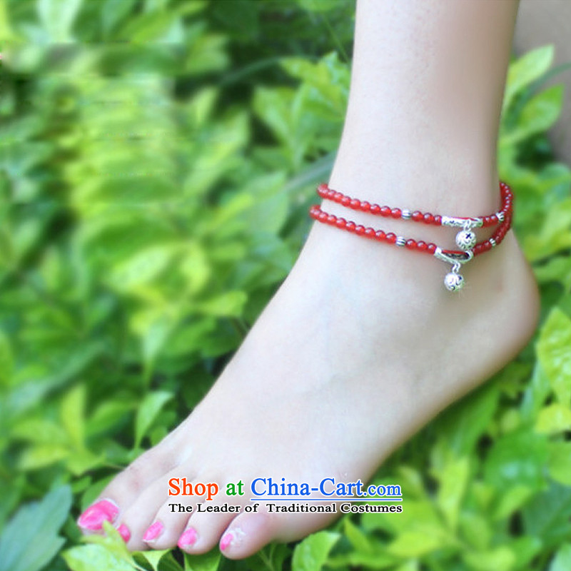The OSCES925 Ngan Yin Tai Silver China wind Red Agate female stylish early summer chains for Valentine's day by the gift girlfriend short of chains /20CM, perimeter of about euro (oyshipin yen) , , , shopping on the Internet