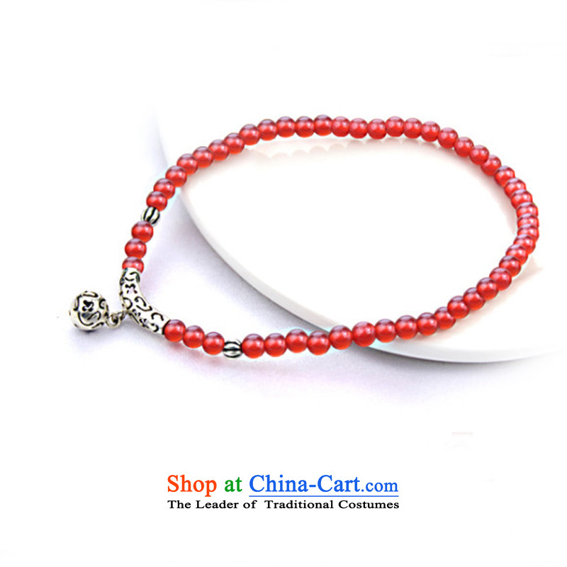 The OSCE S925 Ngan Yin Tai Silver China wind Red Agate female stylish early summer chains for Valentine's day by the gift girlfriend short of chains /20CM, perimeter of about euro (oyshipin yen) , , , shopping on the Internet