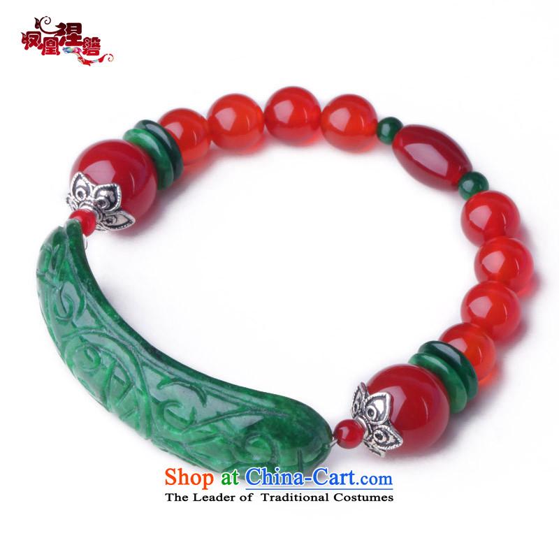 Phoenix Nirvana original hand chain female natural Red Agate stylish dry Tsing Hand chain China windAA090131210W Ornaments