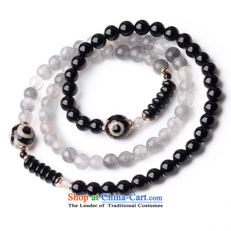 Phoenix Nirvana original hand chain female retro multi-storey dark cloud of agate crystal China wind manually DIY jewelry聽AA007140210W聽TUNG three layers of its Hand chain