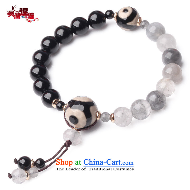 Phoenix Nirvana original couple hand chain female retro black agate cloud crystal China wind manually DIY jewelry AA009140210W A Female_