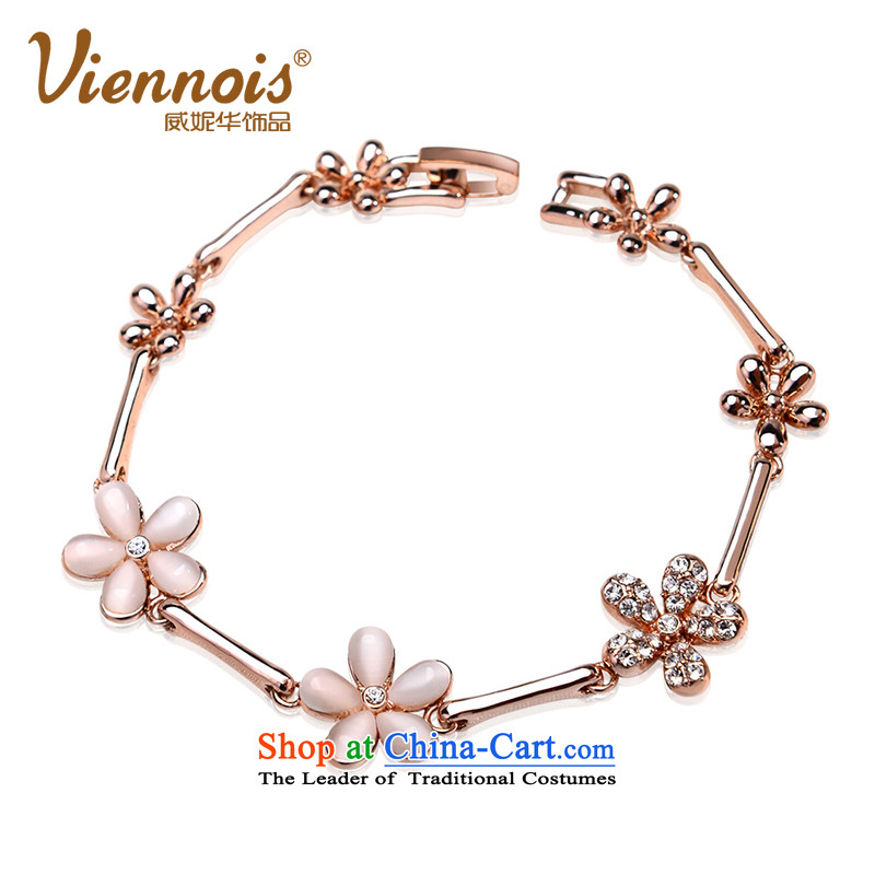 Verisign China viennois Connie rose gold Korean artificial opals wild stylish women hand chain with ornaments gifts of gold Charm