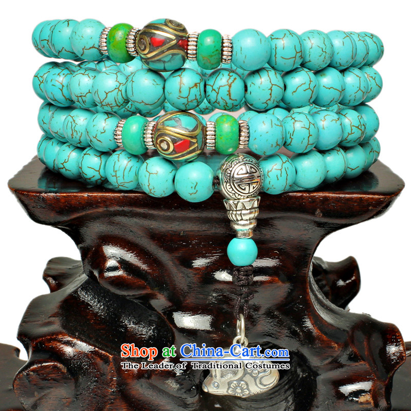Good house-woo water bottle holder stone zodiac constellations creative emulation turquoise bead hand string 108 hidden silver bracelet men and women of the聽Chinese zodiac was taxi 8mm