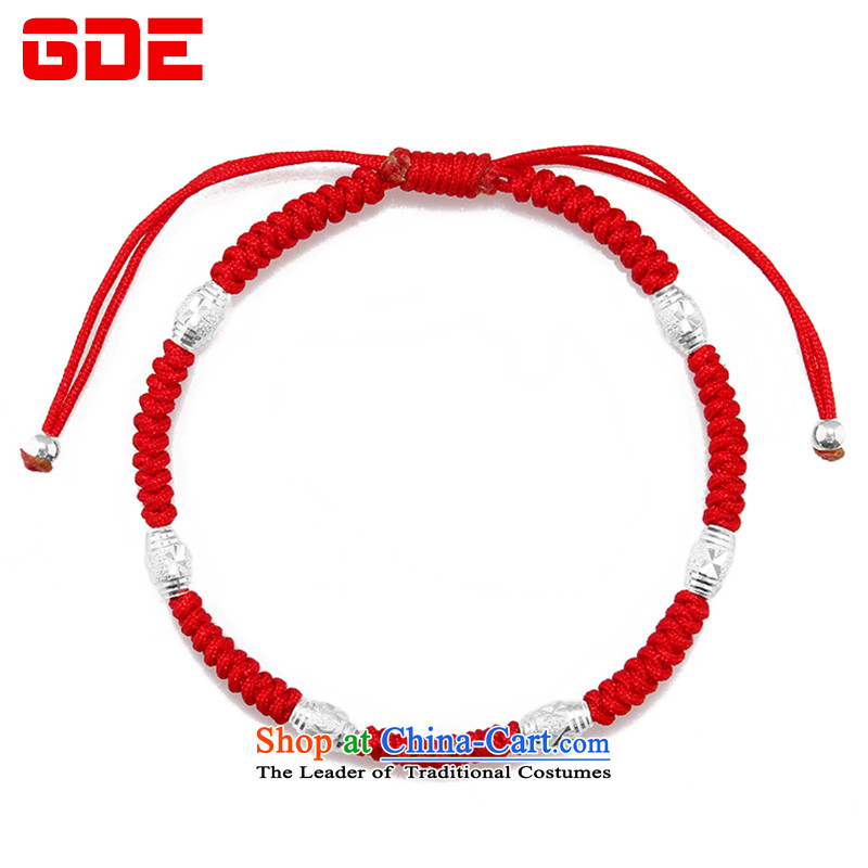 ?By order of the Board of the GDE twine men hand chain?S925 Silver Pearl of the Chinese zodiac sheep couples transshipment hand chain women Red Hand chain can be stamped?6 beads red