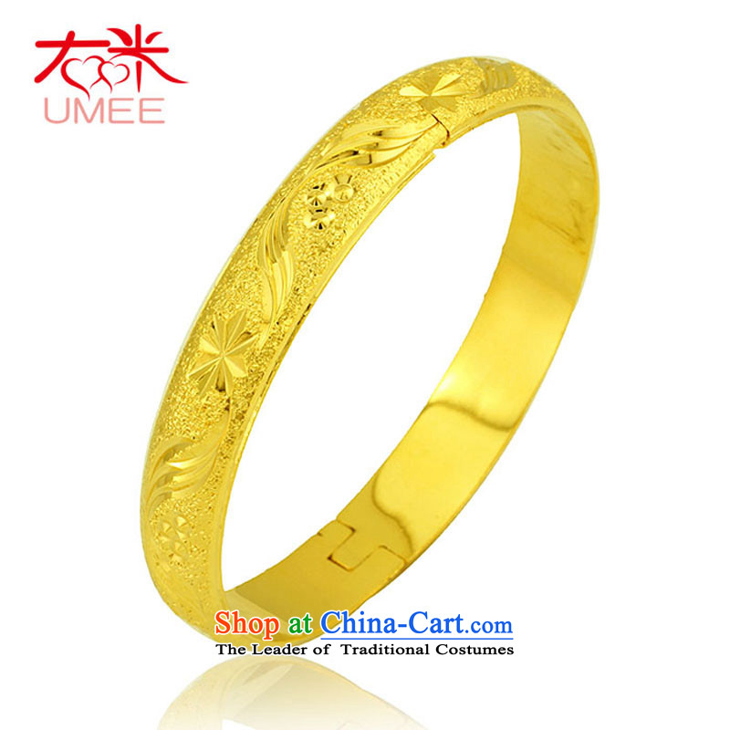 Right-m _umee_ ornaments same flying to China wind-plated gold bracelets, married women classic wide bracelet