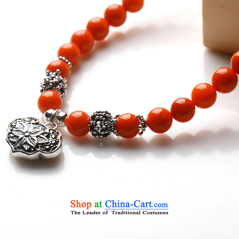 The East China wind following spirit hand chain 925 silver framed coral from 6mm Xiangyun lock (grants), accreditation certificate as the east with the spirit , , , shopping on the Internet
