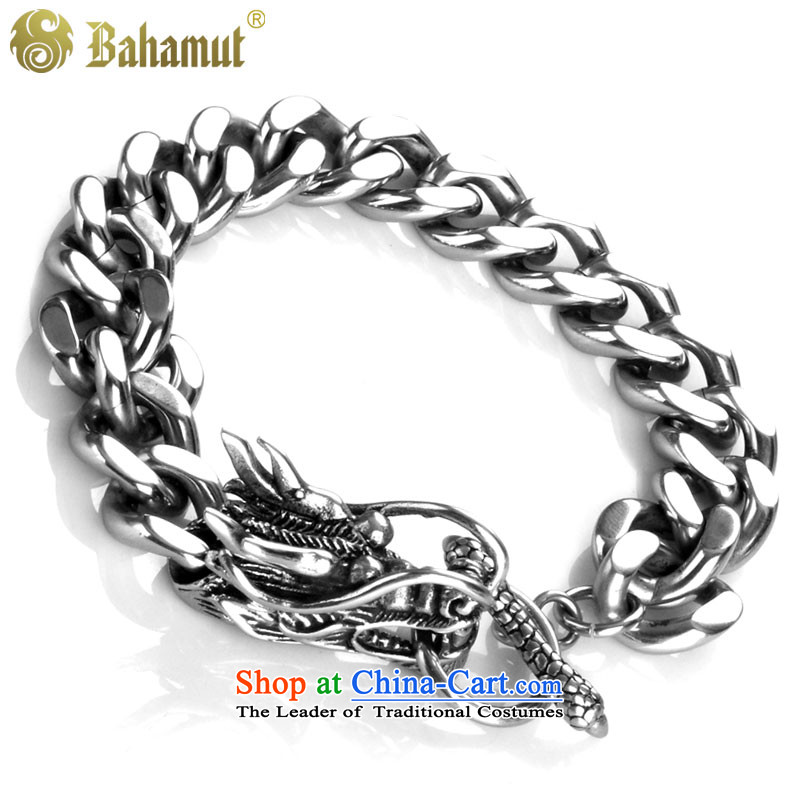 Bahamut titanium steel jewelry men and gas is stylish dragon surprised cloud tour men hand chain men of the Chinese zodiac dragon ornaments Korean wild fine packing