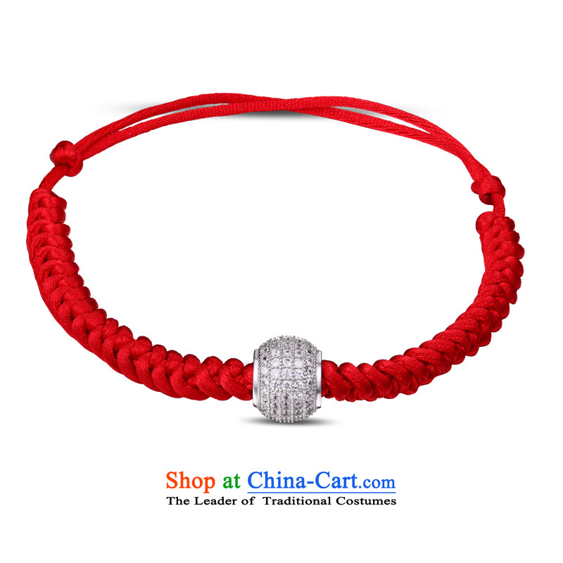 Milk&love Jewelry China wind S925 silver full zirconium drill Passepartout plain manual preparation Red Hand chain girl in men's football gold