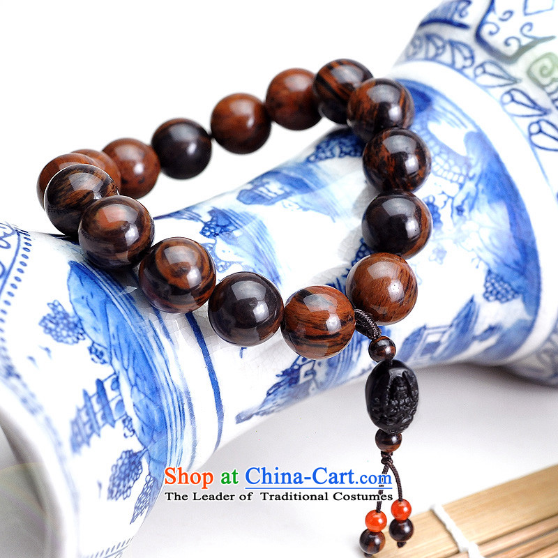 Hang Tai Feng Bing Obsidian hand chain is the Chinese zodiac dragon and snake Fugen Bodhisattva Hand chain of filigree red Obsidian men and women from bead hand pendant) Bead Diameter of the rolling circumference 1.4cm 18c
