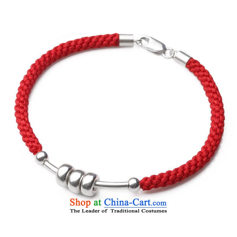 Phoenix Nirvana original hand chain female925 silver high end of weaving redDIY China wind ornaments AA158141010W three love Hand chain