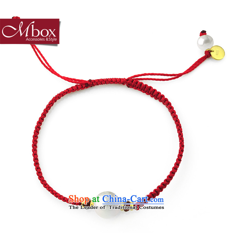 The mbox hand chain Women Korean Red pomegranates ishiguro agate temperament and Stylish ornaments hand chain love to his girlfriend boudoir honey birthday gift SB41212-05 Chinese Red 00