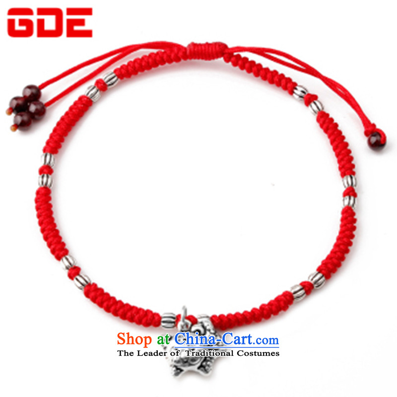 By order of the zodiac red, chains female 925 silver red hand woven pin twine Valentines girlfriend works on the 12 signs of the Chinese zodiac and chains