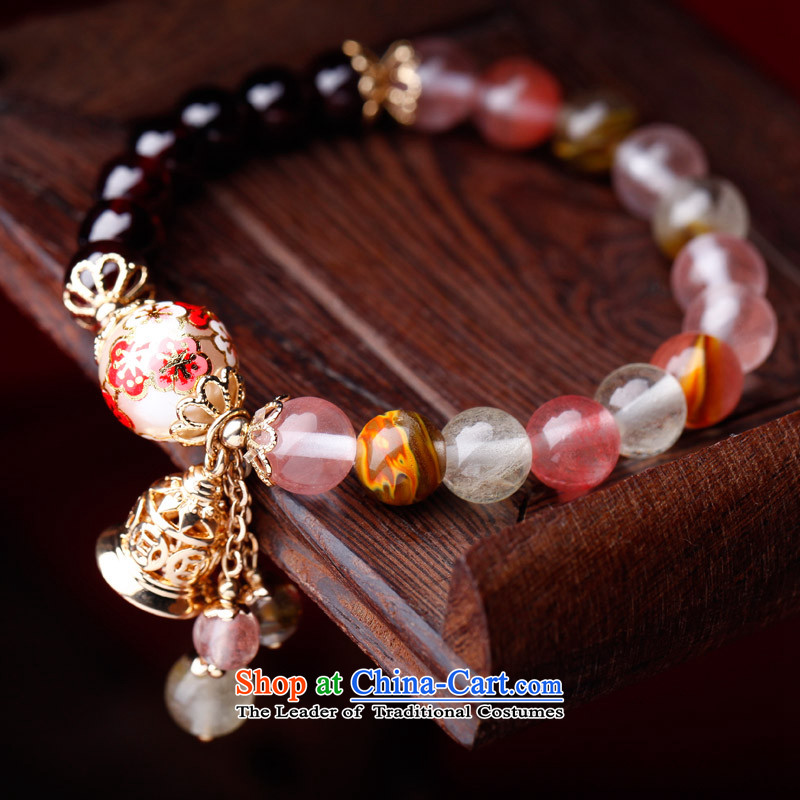 Phoenix Nirvana original natural stone pomegranates single ring hand chain female painting pearl nickel really Golden Flower and China wind to string manually jewelry bracelet that is the wish of the claims of the phoenix of nirvana , , , shopping on the
