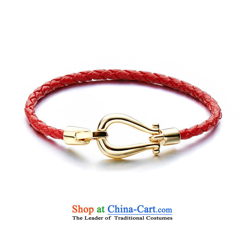 Lisa FREEDE hand chain around the verdant, glossy red wax twine 65653346 chain fashion jewelry girls the year of the sheep gift China wind hand chain Classic red and gold