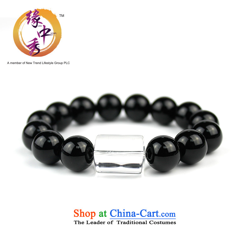 The leading edge of the Chinese zodiac constellations 12 Su-Hand chain Gemini boys white crystal black agate crystal hand chain lover holiday gifts men