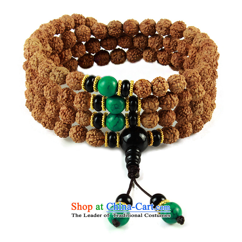 Set the original court-cheung seed 5 star small Vajra Bodhi sub peaches 108 screws that bead bracelets multi-tier Candida Albicans skewers with turquoise, a Chinese zodiac is a snake
