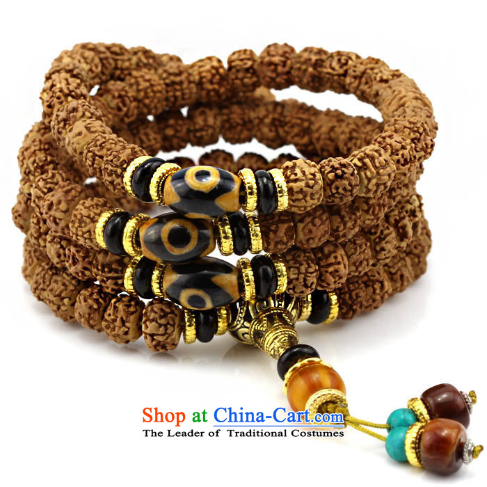 Set The Ascott Cheung Tibetan style low piling small Vajra Bodhi sub 108 screws that bead bracelets Candida Albicans peaches to string lapis hand pearl original seed D of the Chinese zodiac, Dog
