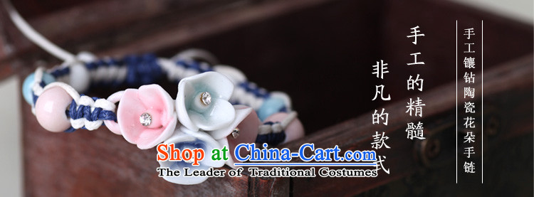 Jingdezhen Song Chong Wa Hand chain female stylish ceramic Diamond Flower bracelets manually China wind ornaments picture, prices, brand platters! The elections are supplied in the national character of distribution, so action, buy now enjoy more preferential! As soon as possible.