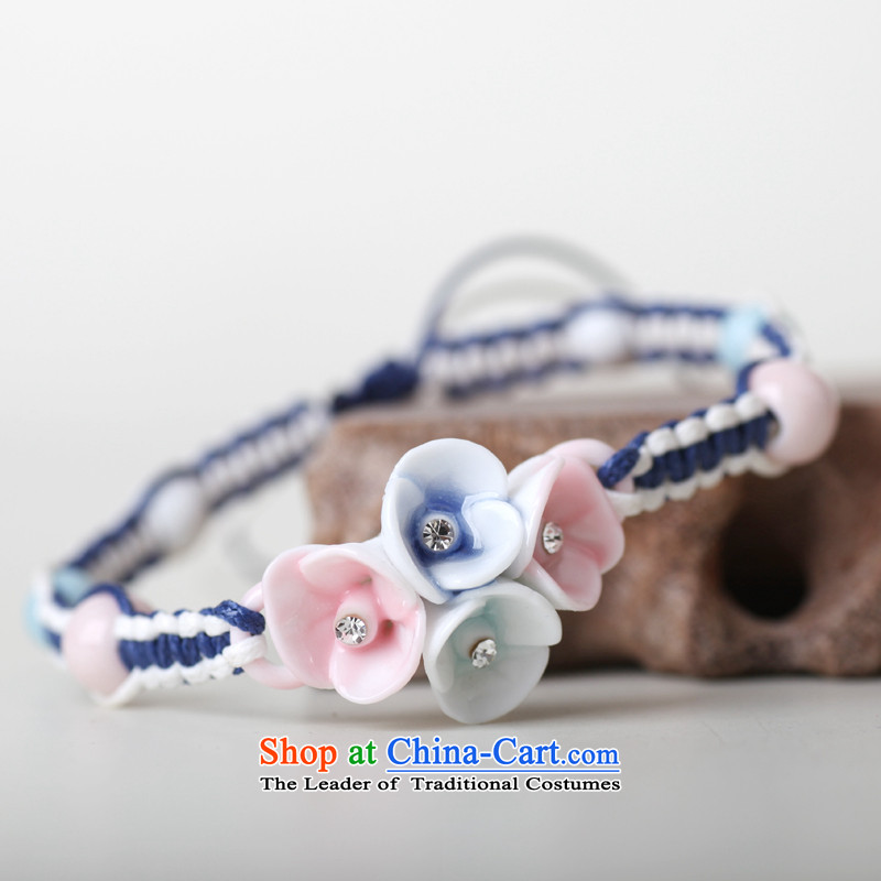 Jingdezhen Song Chong Wa Hand chain female stylish ceramic Diamond Flower bracelets manually China wind ornaments, Cheong Wa Song , , , shopping on the Internet
