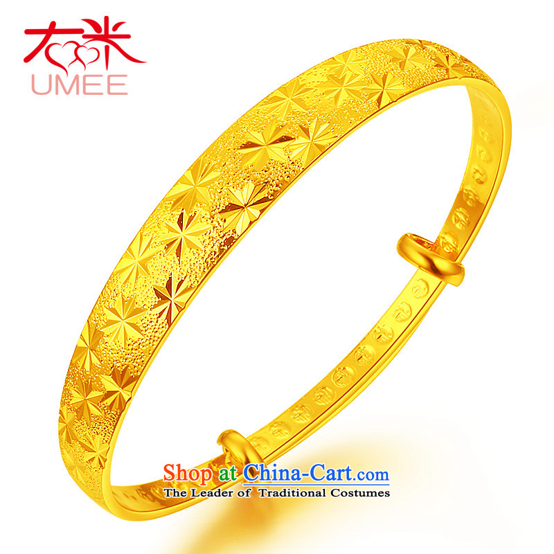 Right-m _umee_ jewelry retro China wind super star pattern plated gold bracelet, opening of push-pull resizable wedding bride bracelets push-pull super star_